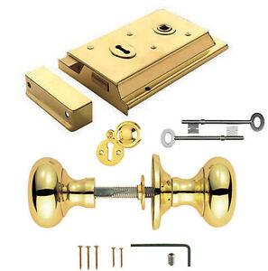 Rim Door Locks & Knobs with Sashlock/Dead Lock Brass/Chrome/ Satin/ Plastic Sets