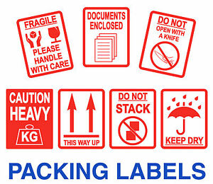 Fragile Stickers - Heavy - Keep Dry - Do Not Open With A Knife