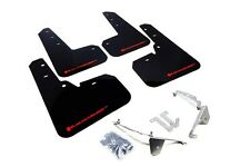 Rally Armor Mud Flaps Guards for 13-17 Subaru XV Crosstrek (Black w/Red Logo)