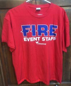 MLS Chicago Fire Soccer Event Staff Tee T Shirt Men XL Red Toyota Park