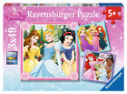 CHILDRENS DISNEY PRINCESS 3 X 49 PIECE JIGSAW PUZZLES RAVENSBURGER