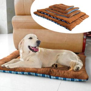 Dog Bed Warm Soft Large Pets Cat Cushion Sleeping Mat Cozy Kennel Washable XS-XL