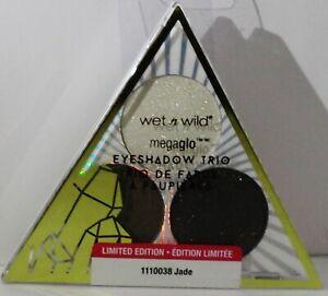 1 Wet n Wild Megaglo Eyeshadow Trio Limited Edition JADE New & Sealed