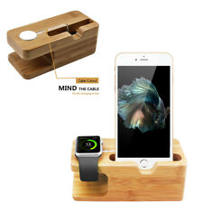 Bamboo Wood Stand Holder For Iphone Apple Watch Base Docking Accessories New
