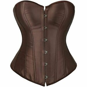 Women Corsets Bustiers Polyester Overbust Corselet Brocade Vintage Style Bridal
