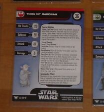 STAR WARS MINIATURES ALLIANCE AND EMPIRE 45/60 YODA OF DAGOBAH CARD