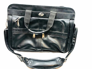 American Tourister Leather Laptop/Briefcase (Adjustable Strap) K18