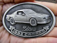 Vtg 1982 CAMARO Z28 Belt Buckle 1994 Chevrolet CAR Chevy Pewter RARE VG++