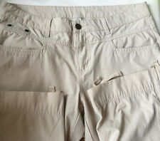 PrAna Womens Breathe Pants Ivory Convertible Capri Outdoor Hiking Stretch 10