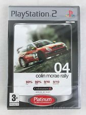 PS2 Colin McRae Rally 04 Platinum, UK Pal, New & Factory Sealed, Small Tear