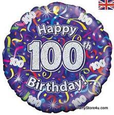 "18"" FOIL BALLOON ""HAPPY 100TH BIRTHDAY"" CELEBRATION"