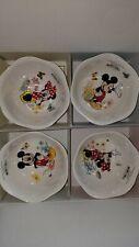 LENOX DISNEY Mickey & Minnie In the Meadow 4 BOWLS in Box w/ COA BUTTERFLY