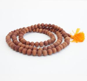 100% Sandalwood 108 Blessed Beads Mantra OM Prayer Mala Neckwear (small-8mm)