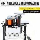 Portable Edge Bander machine  Double side gluing wood banding Machine 110V