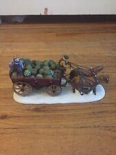 Horse Drawn Squash Cart Heritage Village Series Signed Department 56 #753-6