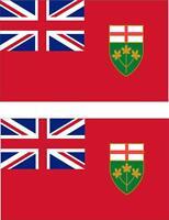 2x Adhesivo adesivi pegatina sticker vinilo bandera canada ontario