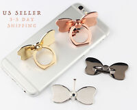 Bow Glossy Shinny Universal Rotating Finger Ring Stand Holder For Cell Phone