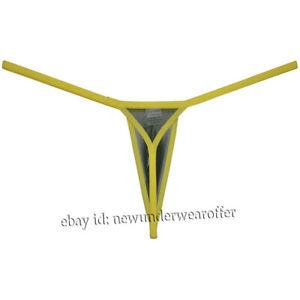 Men See-through Mesh G-string Extreme Micro Thong Underwear Diamond Back Tangas
