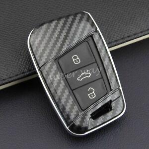 FOR VW/Skoda Carbon Fiber Hard Shell Car Smart Key Case Holder Cover Teramont B8