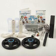 ✨ Nintendo Wii Konsole Black ✨ Mario Kart ✨2x Remote & 2x Nunchuck Neu ✨
