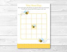 Sweet Little Bumble Bee Printable Baby Shower Bingo Cards