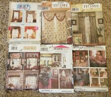 Lot of 6 **UNCUT** House & Home Uncut Sewing Patterns - Simplicity Mccalls