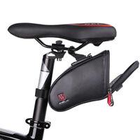 Black Rear Storage Seat Waterproof Bag Pouch Bike Cycling Bicycle Saddle Bag C15