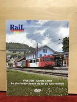 DVD Rail Passion / YVERDON-SAINTE CROIX CHEMIN DE FER DU JURA VAUDOIS- DVD N°144