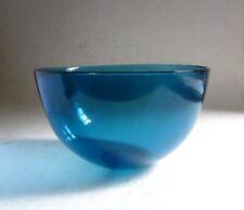 """Sven Palmqvist 1954 Orrefors Sweden LARGE Blue Glass FUGA BOWL. 21.5cm - 8.5"""""""