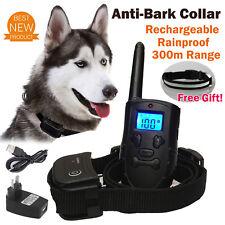 Dog Training Collar Anti Bark Pet Trainer Remote Vibration Rechargeable AU