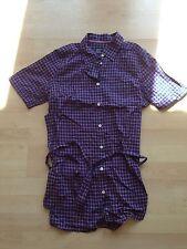 Original Damen American Eagle Outfitters Bluse Hemd aubergine Größe 10 vintage