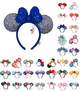 70 Styles Disney Park Minnie Mouse Ears Belle Bow Mickey Snowflake Headband