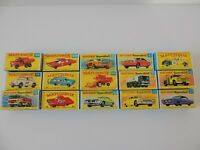 Matchbox Lesney and Superfast / Special Lot  15  Empty Repro Box style F and G