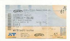Orig.Ticket  WM Qualifikation 04.09.2004   ÖSTERREICH - ENGLAND  !!  SEHR SELTEN