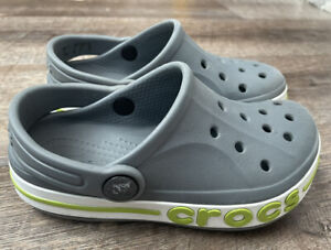 CROCS BOYS GRAY WITH LIME, BUMP IT STYLE 10C