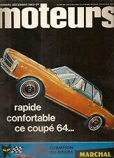 MOTEURS 40 1963 JAGUAR TYPE E 3.8 TOUR DE CORSE GP USA MEXIQUE SALONS TURIN LOND