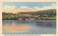 CASCADE MD 1936 Lake & Club House @ Camp Ritchie Military Reservation Pre WW 522