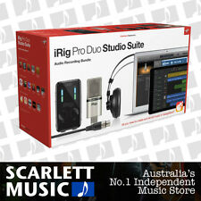 IK Multimedia iRig Pro Duo Studio Suite Bundle w/ XLR Mic, Headphones & Software