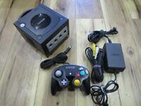 Nintendo GameCube Console Black w/controller GC Japan w228