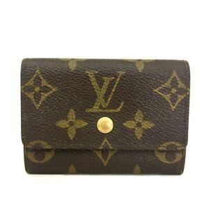 Louis Vuitton Monogram Porte Monnaie Plat Coin Purse Wallet /C0996