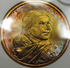 2000-D Sacagawea Dollar Choice BU ANACS MS-62... Beautiful Color!!  Very NICE!!!