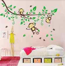 Lovely Cartoon Forest Monkey  Decor Mural Wall Sticker UK