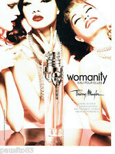 PUBLICITE ADVERTISING 086  2012  Thierry Mugler eau toilette Womanity ( recto ve