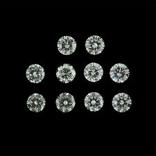 10 Pcs total 2.00 Ct Round Loose Genuine Diamond F VS2 Whole Sale Lot 3.70mm
