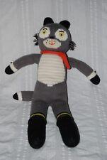 Blabla Kids BEAUREGARD THE WOLF Large Knit Doll Stuffed Animal Gray Retired