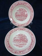 Royal Ironstone China Memory Lane Pink 8 3/8 Soup Salad Bowl 2