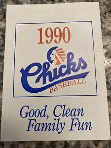 1990 MEMPHIS CHICKS MINOR LEAGUE BASEBALL POCKET SCHEDULE