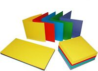 50 x C6 SIZE BRIGHT BLANK CARDS 225gsm & ENVELOPES 100gsm CARD MAKING CRAFT 281
