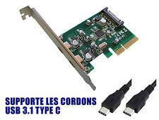 PCIE USB 3.1 - 10 GB - 2 puertos en la plaza trasero - TIPO C - Chipset ASM1142