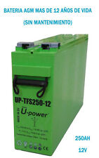 Batería solar Monoblock AGM UP-TFS250-12 250AH 12V